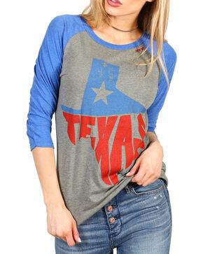 Bohemian Cowgirl Women's Texas Long Sleeve Baseball Tee, Dark Grey, hi-res