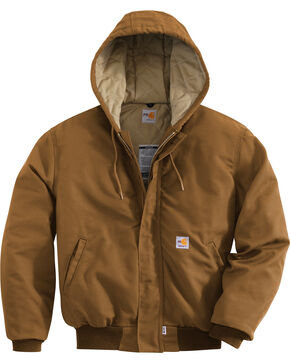 Carhartt Flame-Resistant Midweight Active Hooded Jacket - Big & Tall, Carhartt Brown, hi-res
