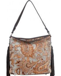Montana West Western Aztec Collection Turquoise Handbag, , hi-res
