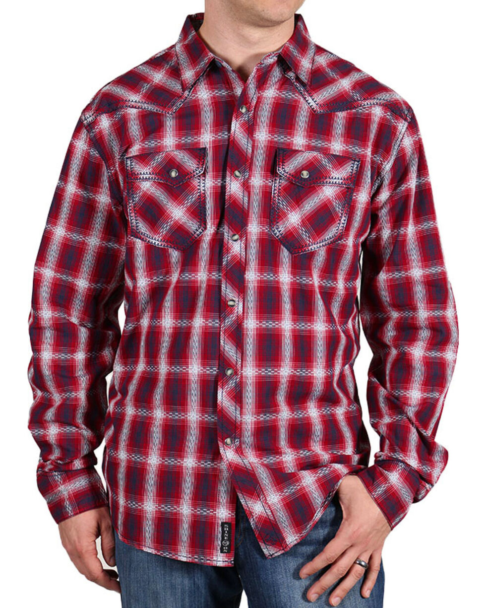 Moonshine Spirit® Men's Red Dirt Long Sleeve Western Shirt, , hi-res