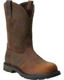 Ariat Groudbreaker Pull-On Work Boots - Steel Toe, , hi-res