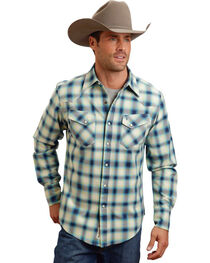 Stetson Men's Wide Plaid Patterned Long Sleeve Shirt, , hi-res