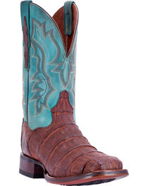 Dan Post Men's Bishop Caiman Tail Cowboy Certified Cowboy Boots - Square Toe, , hi-res