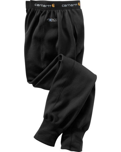 Carhartt Men's Black Base Force Extremes Super-Cold Weather Bottoms , Black, hi-res