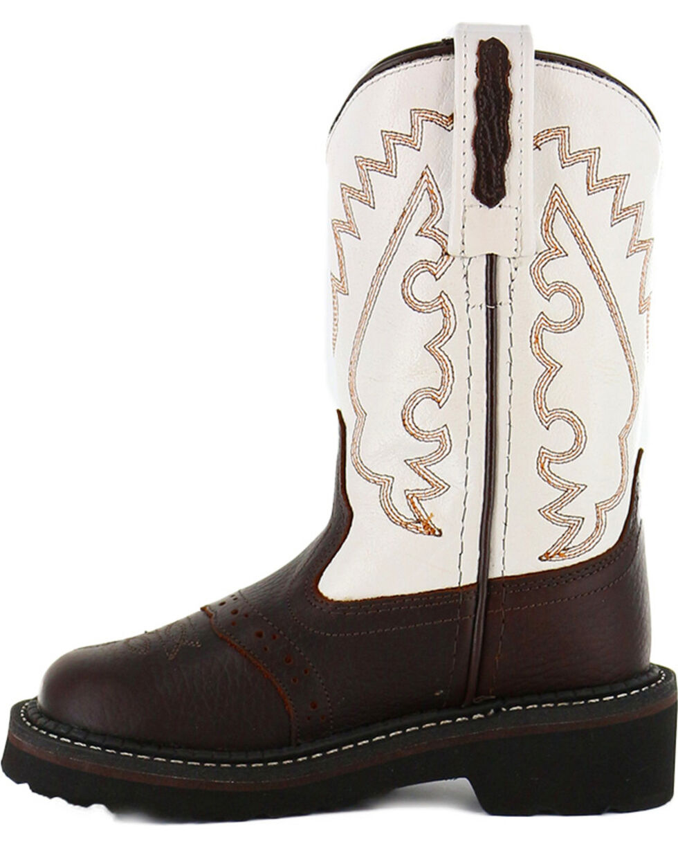 Cody James® Toddler's Round Toe Crepe Western Boots, Brown, hi-res