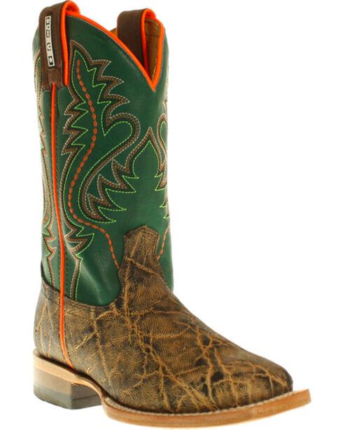 Cinch® Youth Boys' Elephant Print Boots - Square Toe, Bark, hi-res