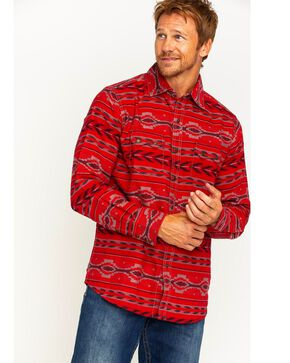 Ryan Michael Men's Beacon Blanket Western Shirt, Ruby, hi-res