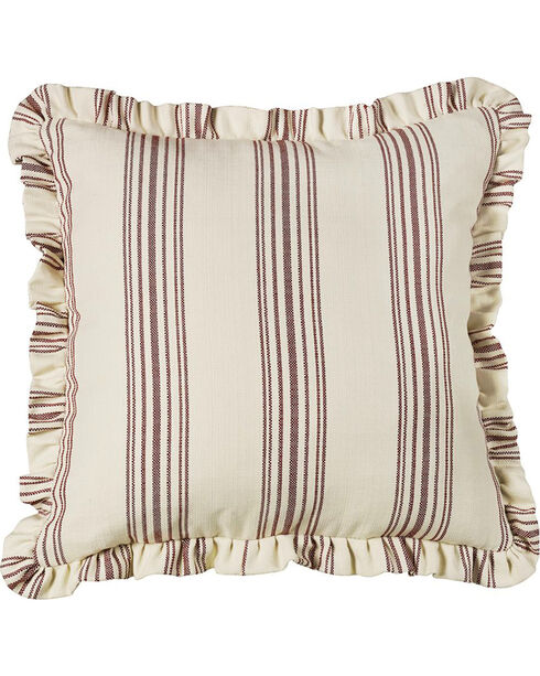 HiEnd Accents Prescott Ruffled Euro Sham Accent Pillow, Red, hi-res