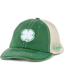 Black Clover Men's Live Lucky Vintage Luck Mesh #1 Ball Cap, Green, hi-res