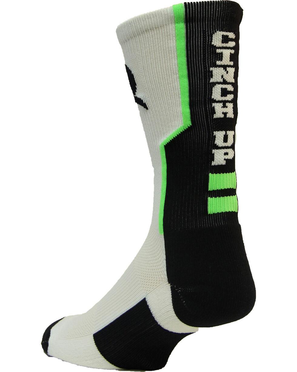 Cinch Men's White Mesh Crew Socks , White, hi-res