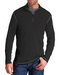 Ariat Flame Resistant Black Polartec 1/4 Zip Baselayer Shirt - Big and Tall, , hi-res