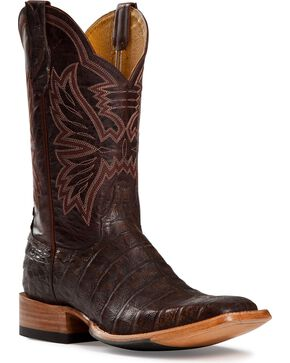Cinch Women's Caiman Exotic Boots, Antique Brown, hi-res