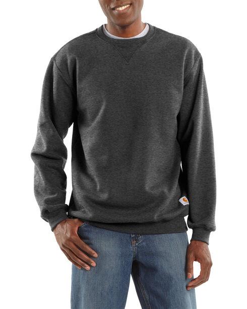 Carhartt Men's Midweight Crewneck Sweater, Charcoal, hi-res