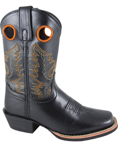 Smoky Mountain Boys' Mesa Western Boots - Square Toe, Black, hi-res