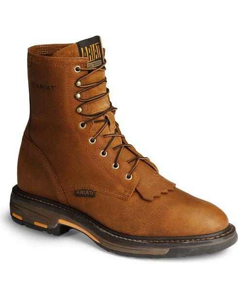 "Ariat Men's Work Hog 8"" Lace Up Work Boots, Golden, hi-res"