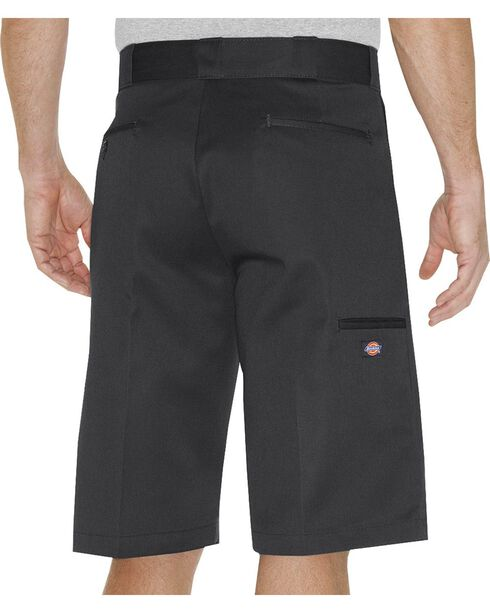 Dickies Relaxed Fit Multi Pocket Work Shorts - Tall, Black, hi-res