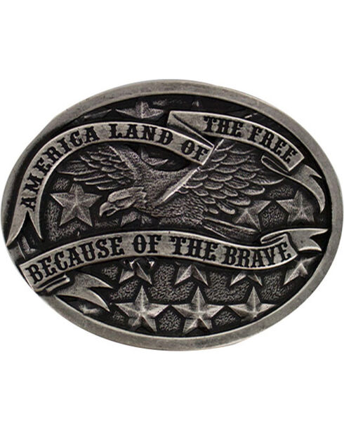 Cody James Men's America Belt Buckle, Silver, hi-res