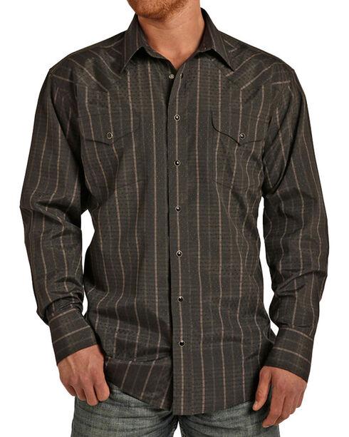 Panhandle Men's Western Stripes Long Sleeve Shirt, , hi-res