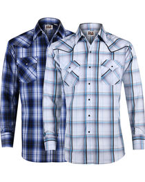Ely Cattleman Men's Textured Plaid Long Sleeve Western Shirt, , hi-res