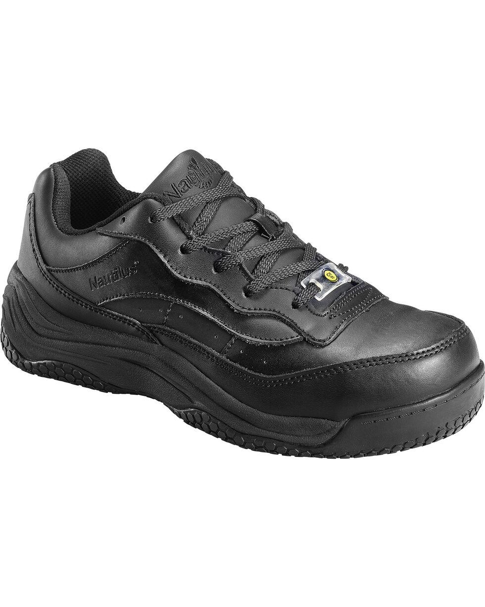 Nautilus Women's Composite Toe Slip Resistant Shoes, Black, hi-res