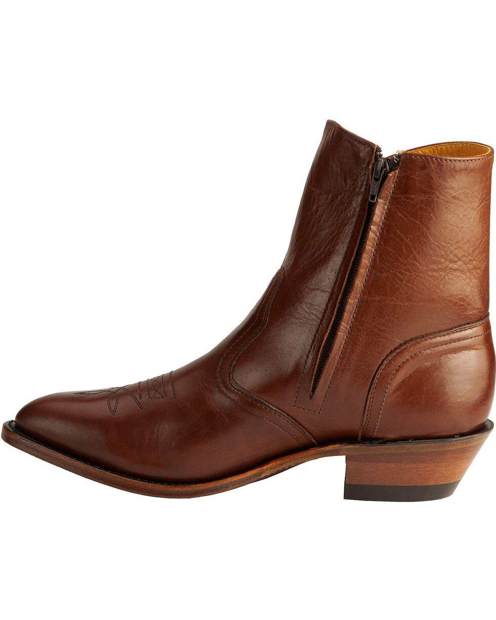"Boulet Men's 9"" Side Zip Western Dress Boots, Tan, hi-res"