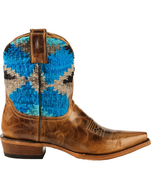 Stetson Women's Morning Star Aztec Shorty Boots, Brown, hi-res