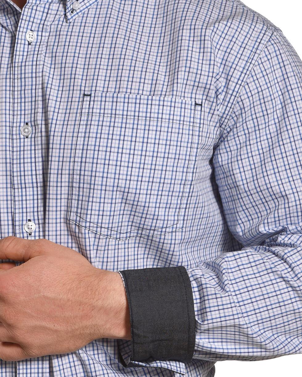 Cody James Men's Forth Worth Check Plaid Shirt - Big & Tall, Blue, hi-res