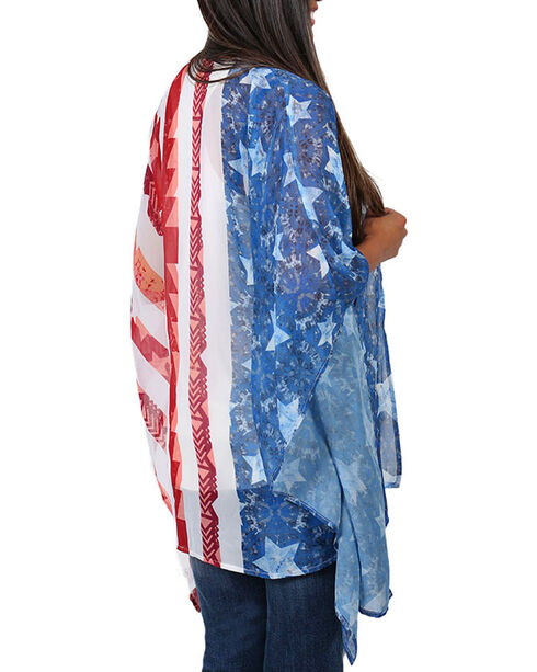 Eyeshadow Women's Americana Kimono , Red/white/blue, hi-res