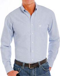Panhandle Men's Button Down Long Sleeve Shirt, Blue, hi-res
