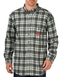 Dickies Men's Flame Resistant Long Sleeve Plaid Shirt - Big & Tall, , hi-res