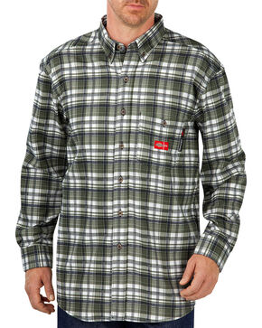 Dickies Men's Flame Resistant Long Sleeve Plaid Shirt - Big & Tall, Multi, hi-res