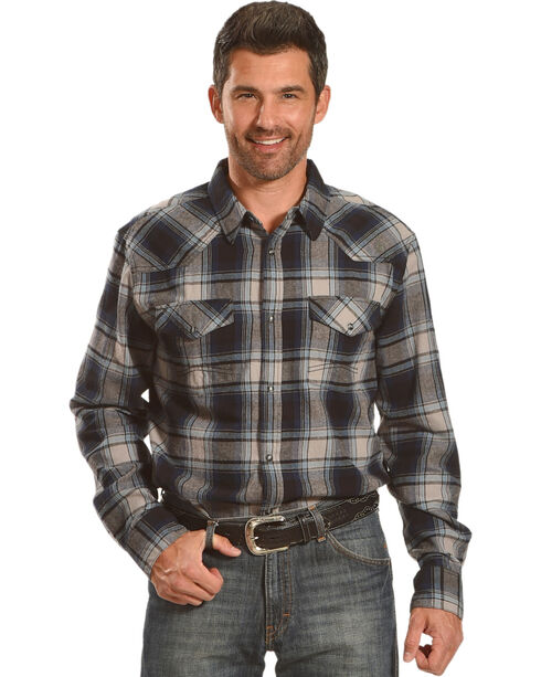 Cody James Men's Steamliner Plaid Long Sleeve Shirt - Big & Tall, Blue, hi-res