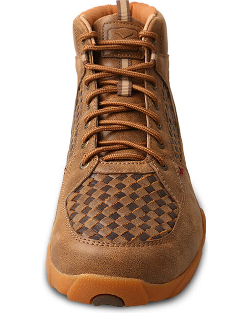 Twisted X Men's Leather Driving Moc Casual Shoes, Brown, hi-res