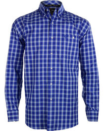 Wrangler George Strait Men's Plaid Button Down Long Sleeve Shirt , , hi-res