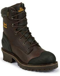 Chippewa Men's Waterproof Composite Toe Logger Boots, , hi-res