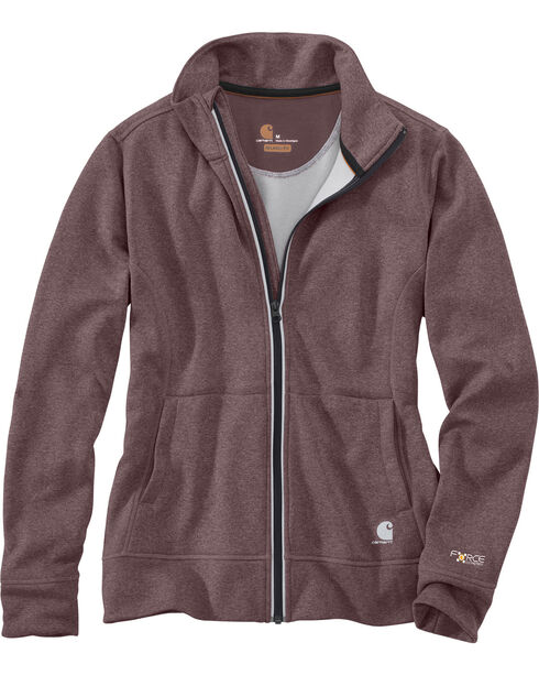 Carhartt Women's Force Extremes Zip Front Sweatshirt , Heather Grey, hi-res
