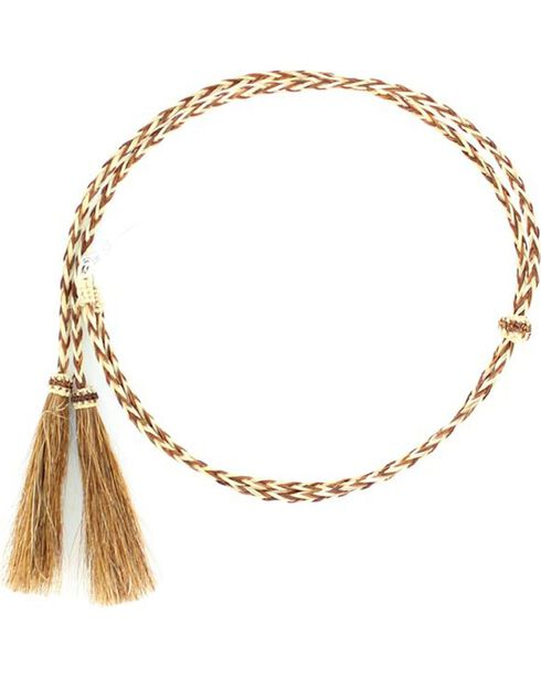 Blonde & Tan Braided Horsehair Tassels Stampede String, Rust, hi-res