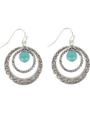 Shyanne® Women's Double Hoop Hook Earrings, Silver, hi-res