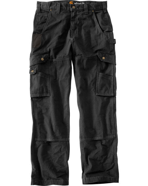 Carhartt Men's Cotton Ripstop Pants, Black, hi-res