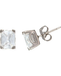 Montana Silversmiths Star Lights Oval Stud Earrings, , hi-res