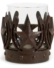 BB Ranch Stars and Horseshoes Candle Holder, , hi-res