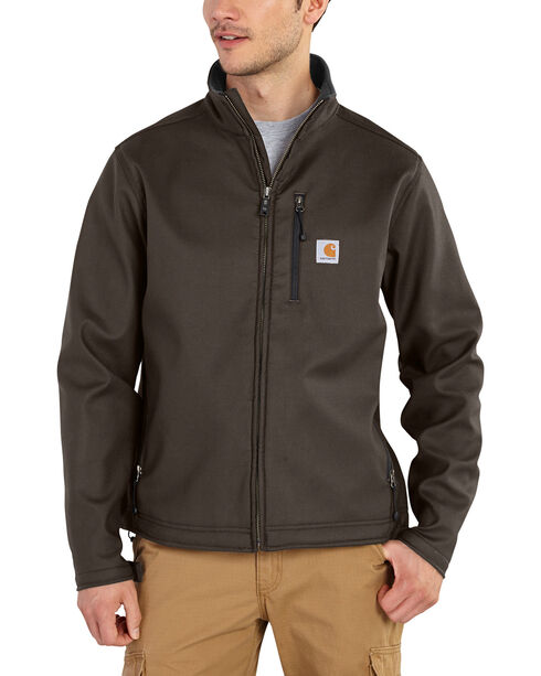 Carhartt Men's Pineville Softshell Jacket - Big & Tall, Dark Brown, hi-res