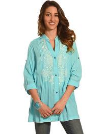 Tasha Polizzi Women's Blue Athena Print Shirt, , hi-res