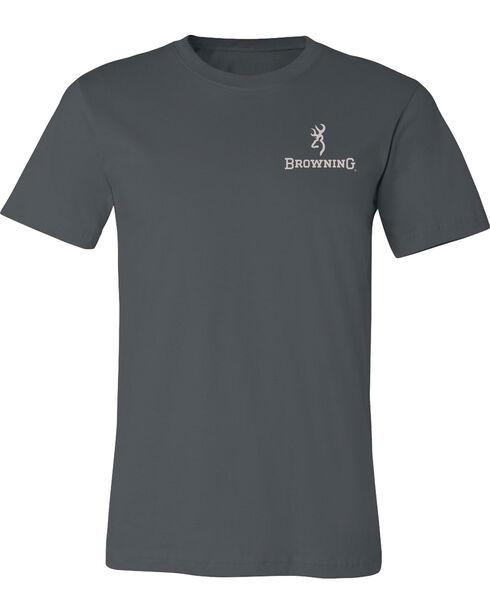 Browning Men's Duck Band Buckmark Asphalt Short Sleeve Tee, Grey, hi-res