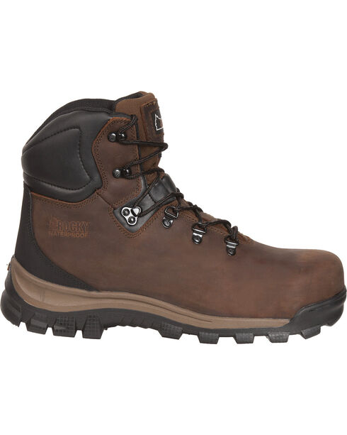 Rocky Core Waterproof Hiker Work Boots - Round Toe, Brown, hi-res