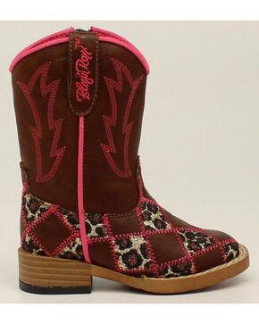 Blazin Roxx Toddler Girls' Zip Miley Patchwork Boots - Square Toe, Brown, hi-res