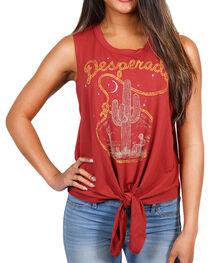Shyanne® Women's Desperado Tie-Front Tank Top, , hi-res
