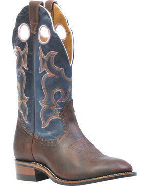 Boulet Laid Back Copper Organza Azul Cowgirl Boots- Round Toe, Copper, hi-res