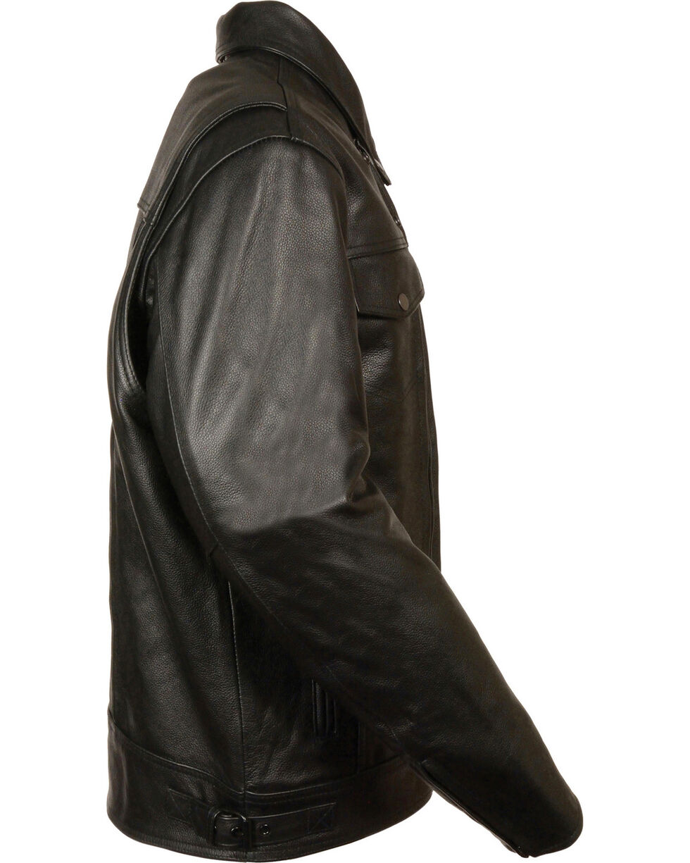 Milwaukee Leather Men's Utility Vented Cruiser Jacket - Tall 5X, Black, hi-res