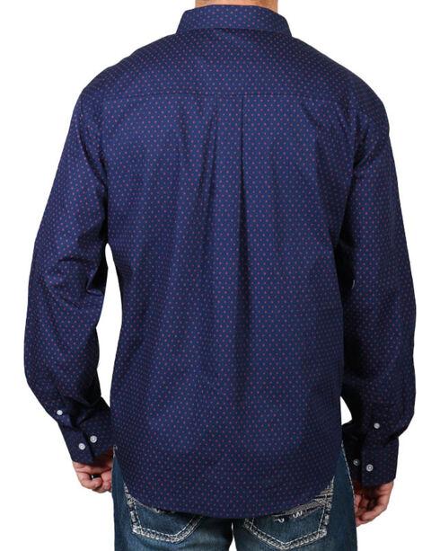 Cody James Dot Patterned Long Sleeve Shirt, Navy, hi-res